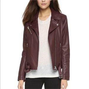 IRO Jone Burgundy Leather Motorcycle Jacket 36/4